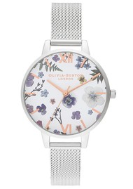 Olivia Burton Artisan Demi Dial Mesh Watch - Silver & Rose Gold