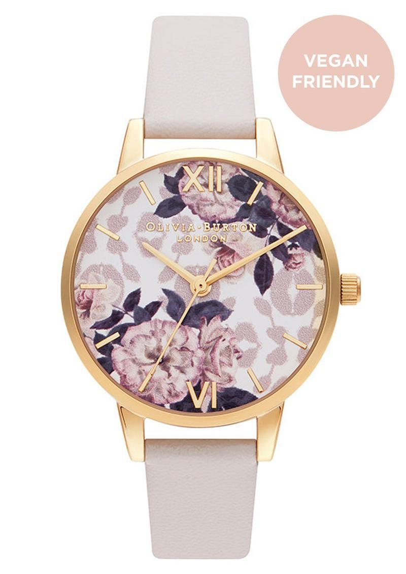 Olivia Burton Wild Flower Vegan Friendly Midi Dial Watch - Blush & Pale Gold main image