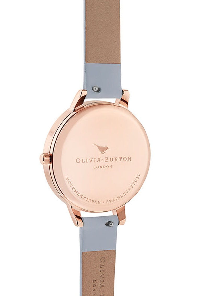 British Blooms Demi Dial Watch - Chalk Blue & Rose Gold main image
