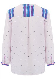 Mercy Delta Stanford Blouse - Navajo Bluebell