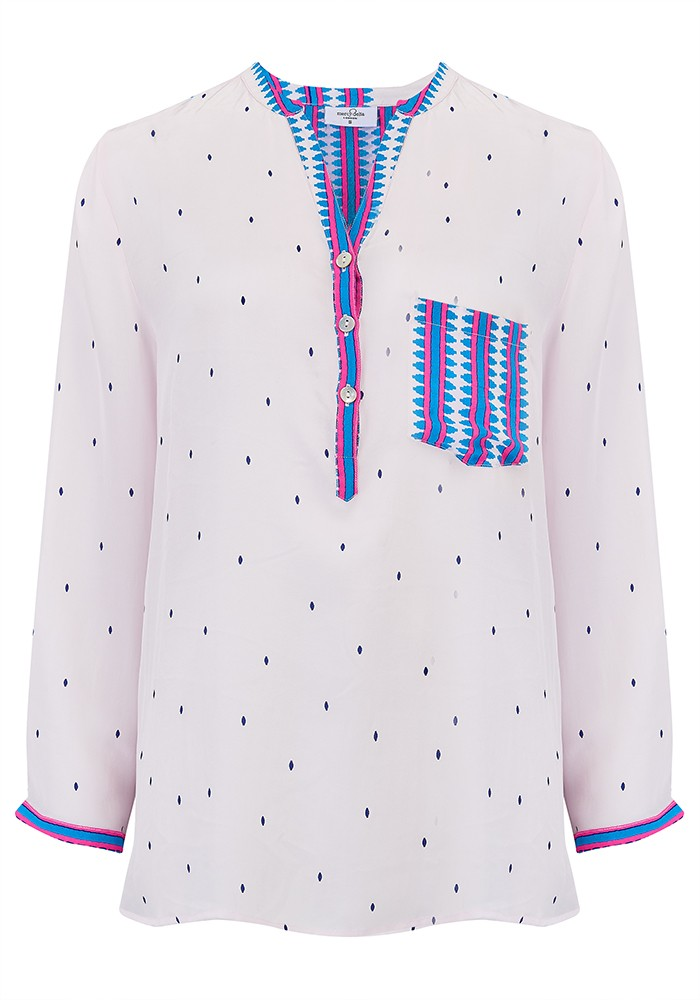 Mercy Delta Stanford Blouse - Navajo Bluebell main image