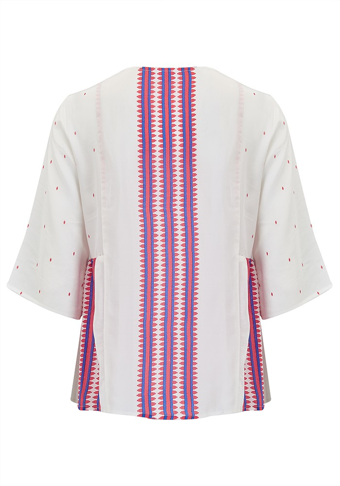 Mercy Delta Bodiam Silk Top - Navajo Honeysuckle main image