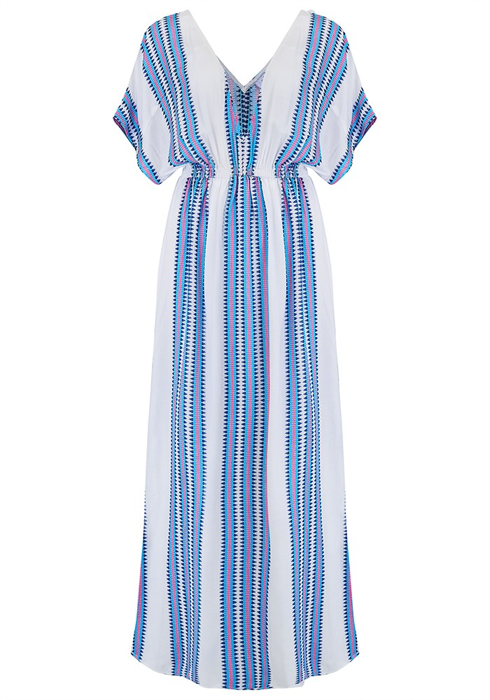 Mercy Delta Mansfield Maxi Dress - Apache Bluebell main image