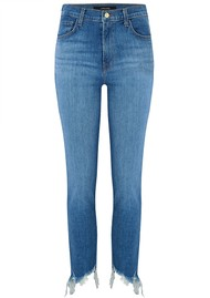 J Brand Ruby High Rise Cropped Raw Hem Jeans - Futurist