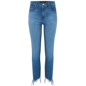 Ruby High Rise Cropped Raw Hem Jeans - Futurist