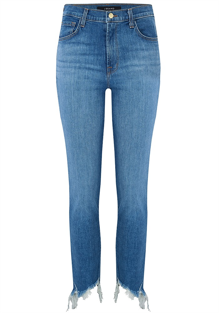 Ruby High Rise Cropped Raw Hem Jeans - Futurist main image