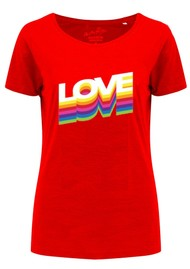 ON THE RISE Rainbow Love Tee - Red