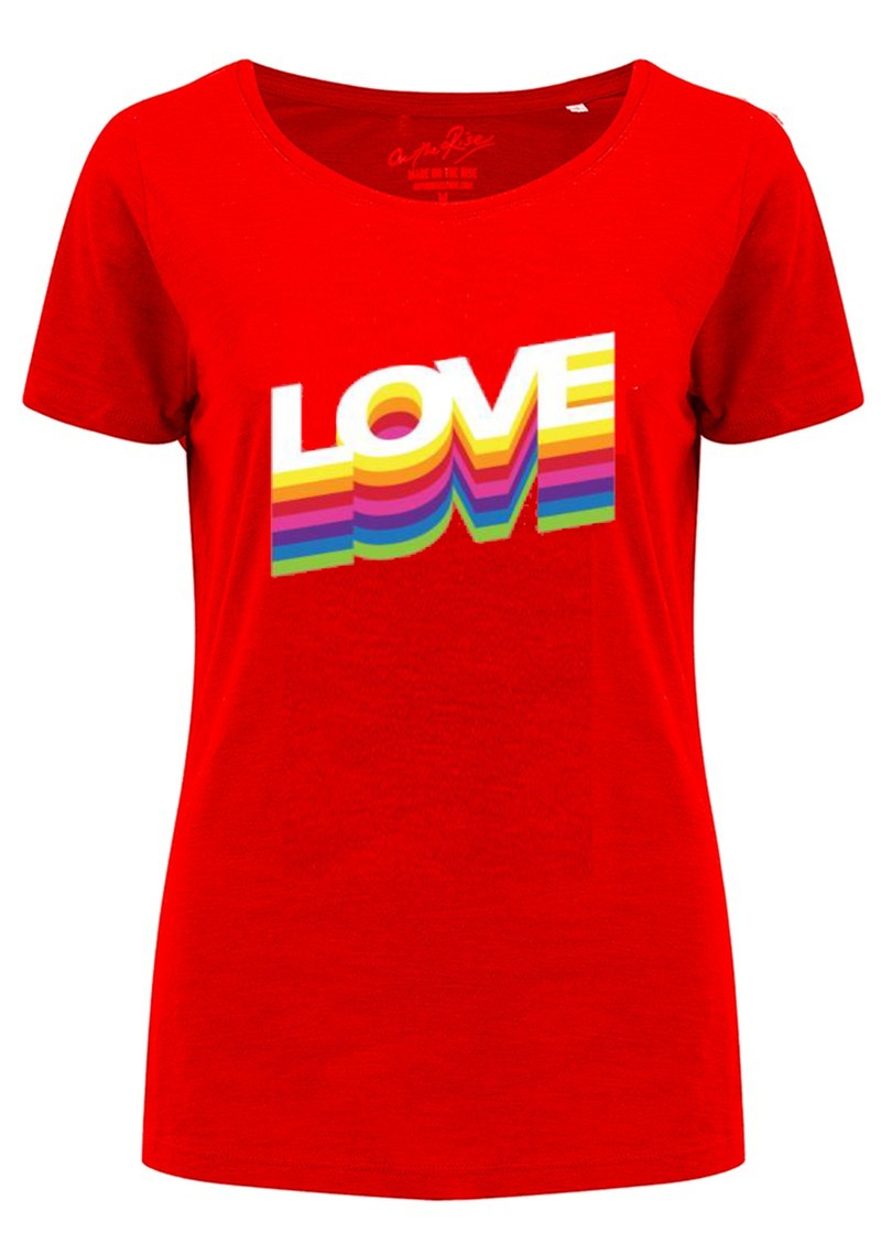 Rainbow Love Tee - Red main image