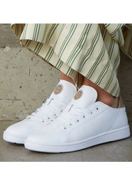 WODEN Jane Leather Trainers - Bright White