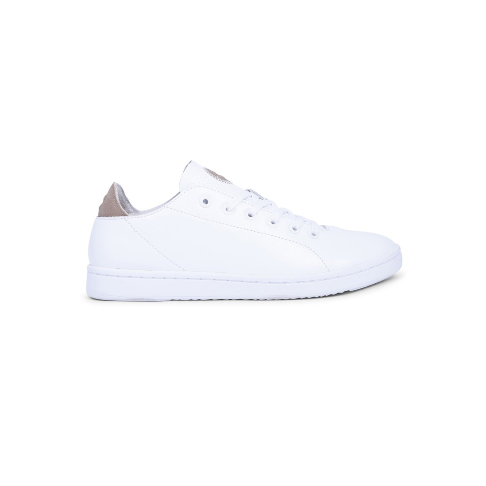 Jane Leather Trainers - Bright White