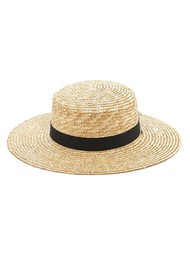 MU DU Colette Boater Hat - Natural