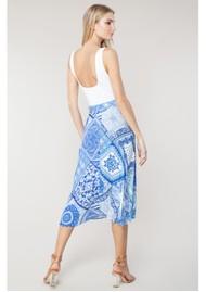 Hale Bob Svetlana Printed Wrap Skirt - Blue