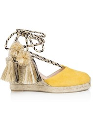 AIR & GRACE Shimmie Espadrille Wedge - Yellow