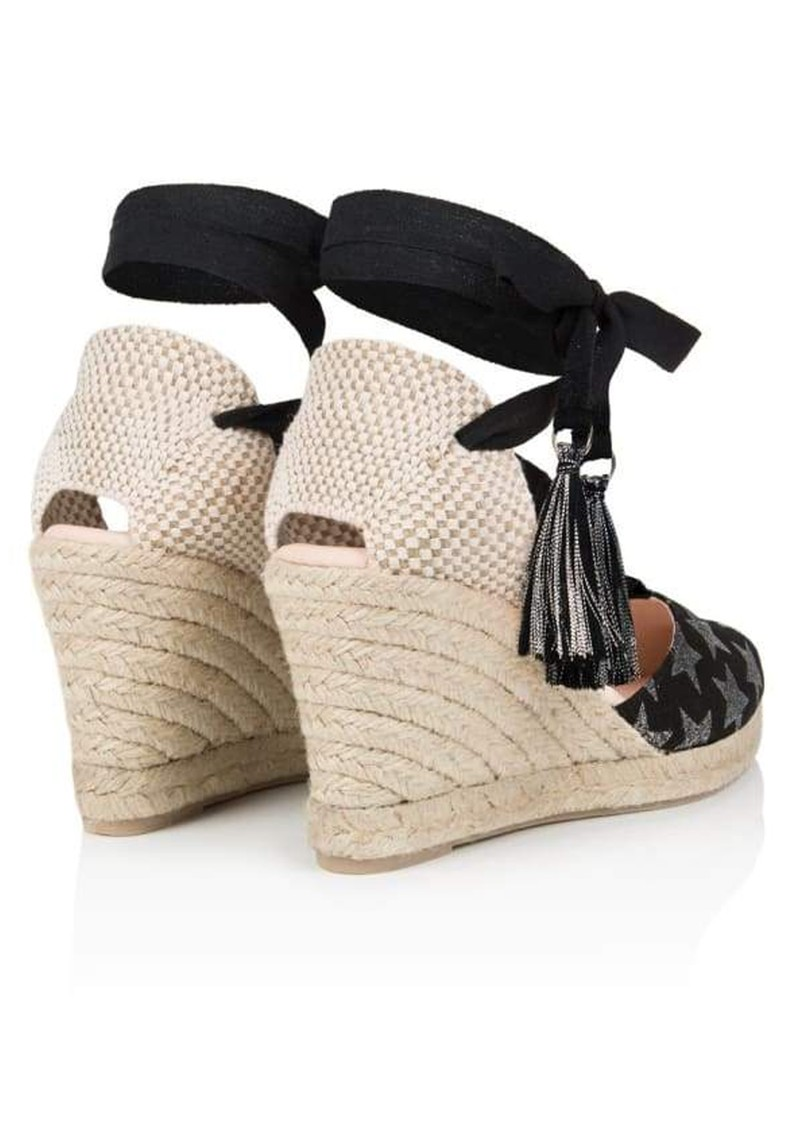 AIR & GRACE Shimmie Espadrille Wedge - Black Star main image