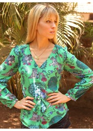 STARDUST Betty Blouse - Green