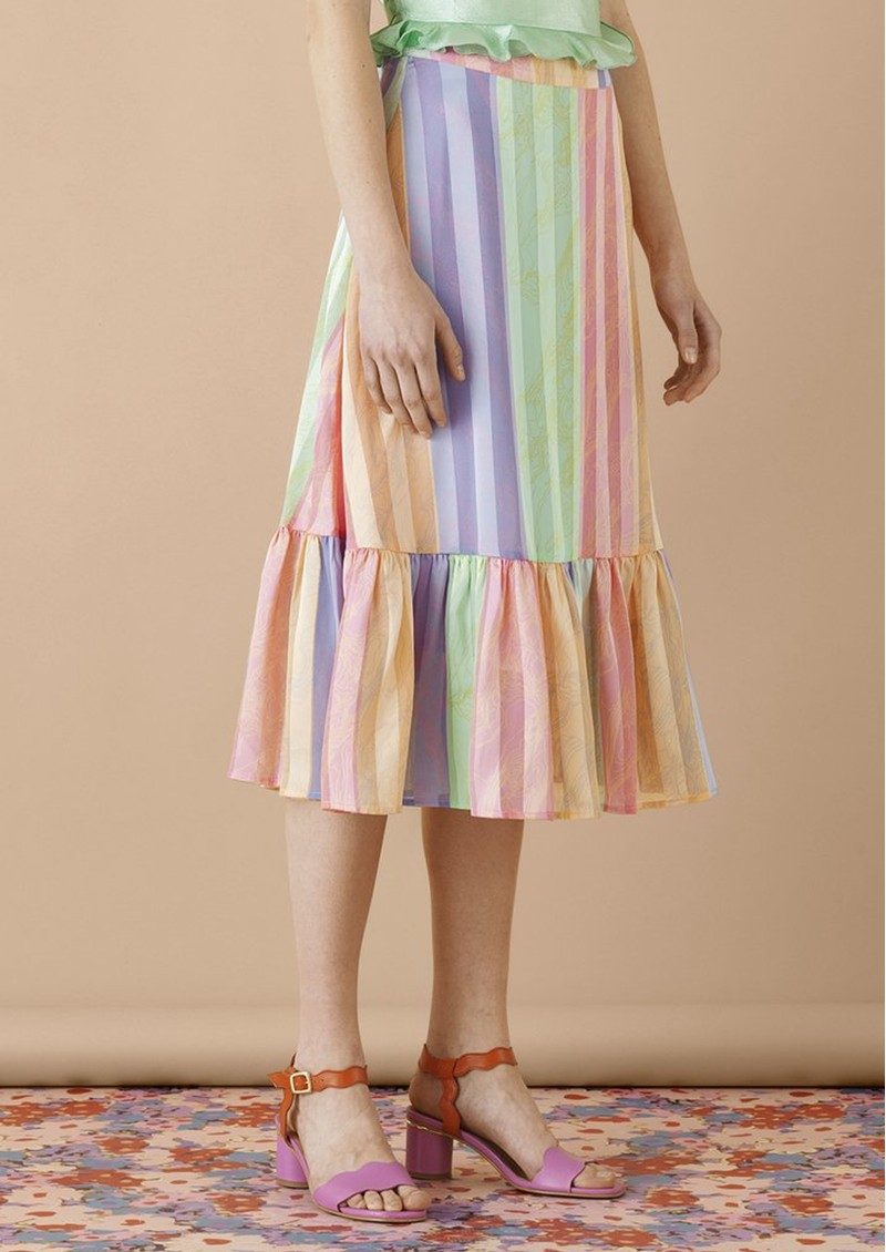 STINE GOYA Leandra Midi Skirt - Altitude Stripe main image