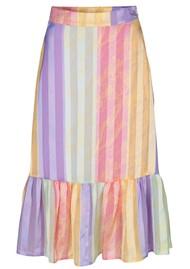 Leandra Midi Skirt - Altitude Stripe