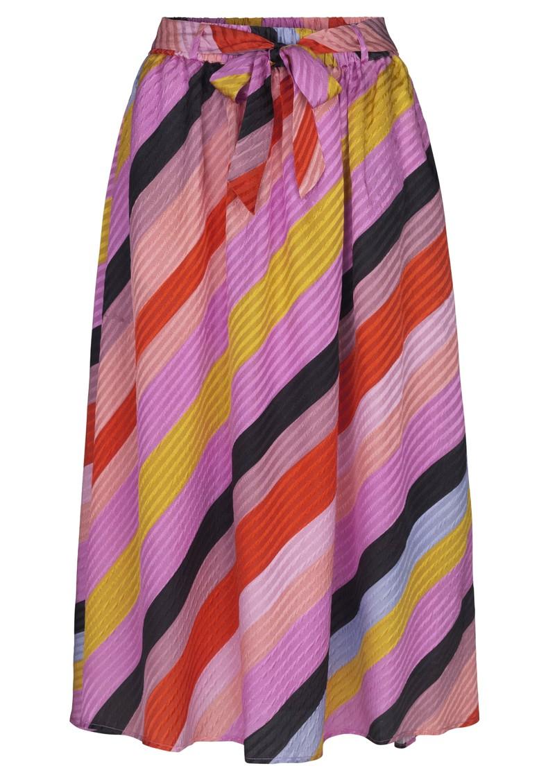 STINE GOYA Audrey Silk Skirt - Parallels main image