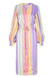 STINE GOYA Violet Dress - Altitude Stripe