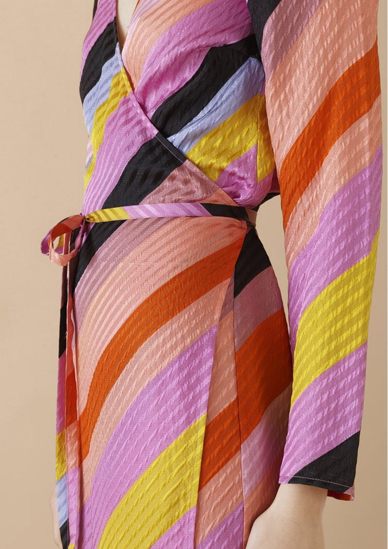 STINE GOYA Paisley Silk Dress - Parallels main image