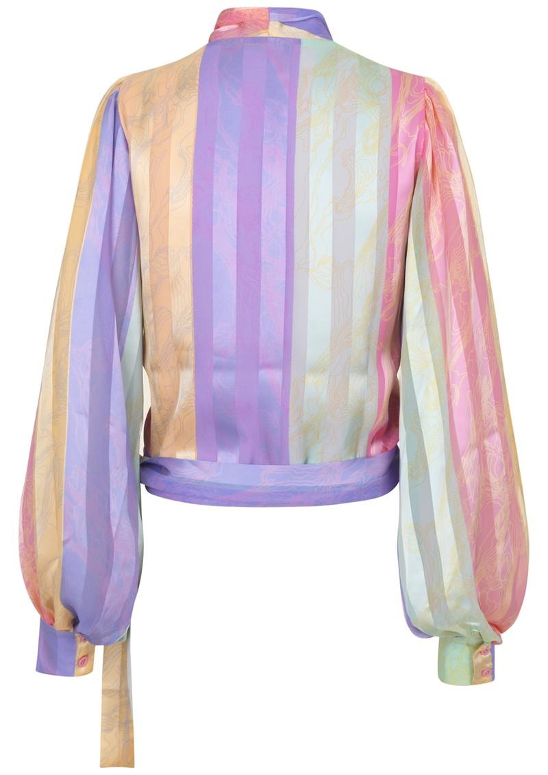 STINE GOYA Glenda Wrap Top - Altitude Stripes main image