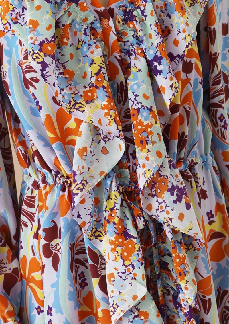 39256a57dad Skylar Silk Printed Dress - Red Daffodil main image