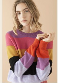 STINE GOYA Magdalena Jumper - Stripes Pink