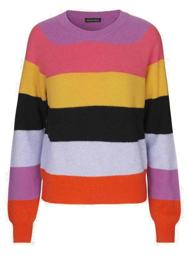 STINE GOYA Magdalena Jumper - Stripes Pink main image