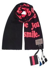KARIEN BELLE Poetry Pink Scarf - Black & Pink