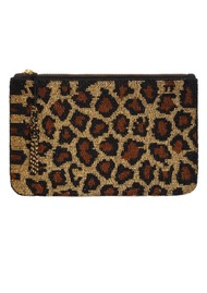 NOOKI Beaded Clutch Bag - Leopard
