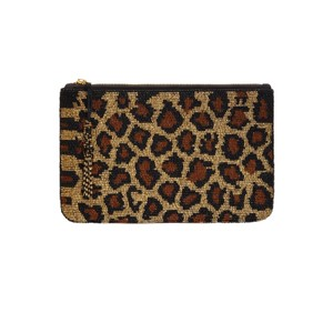 Beaded Clutch Bag - Leopard