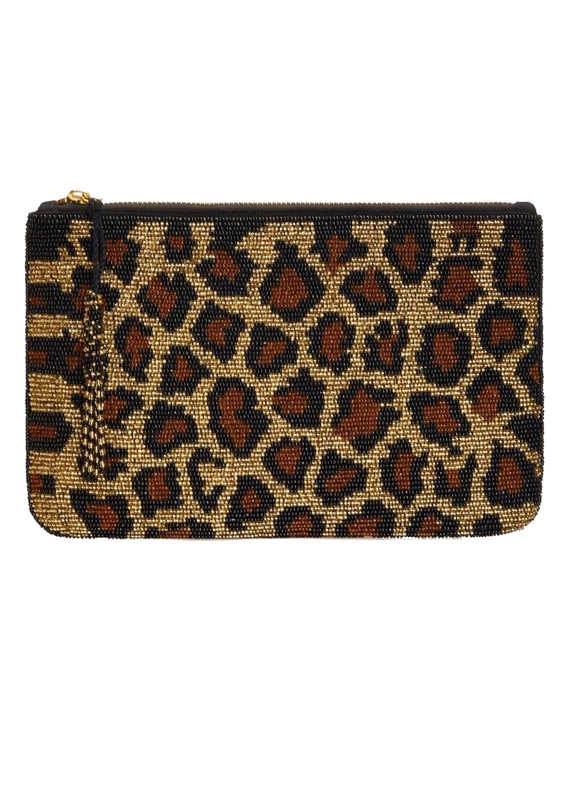 NOOKI Beaded Clutch Bag - Leopard main image