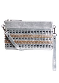 NOOKI D'Souza Leather Clutch Bag - Silver