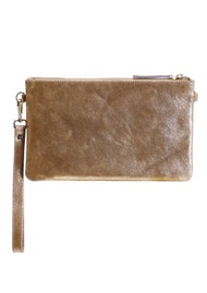 NOOKI D'Souza Leather Clutch Bag - Gold
