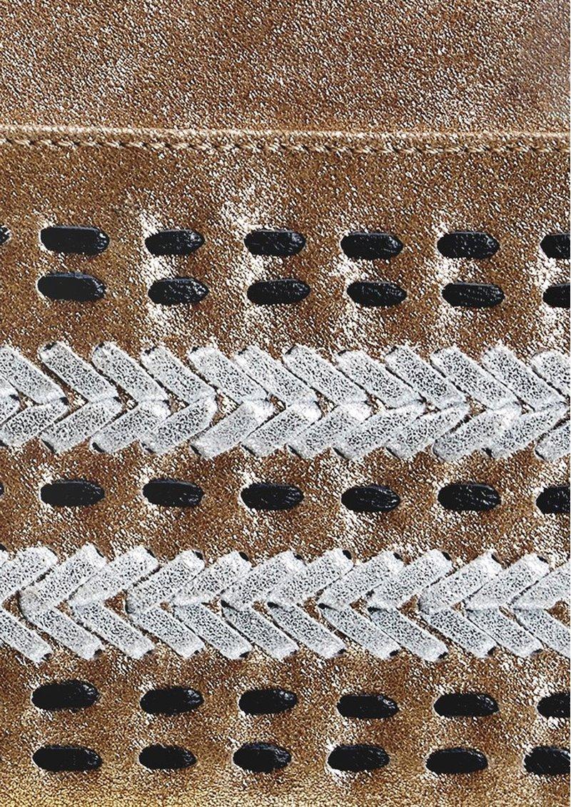 NOOKI D'Souza Leather Clutch Bag - Gold main image