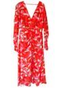 TALULAH Daiquiri Midi Printed Dress - Strawberry