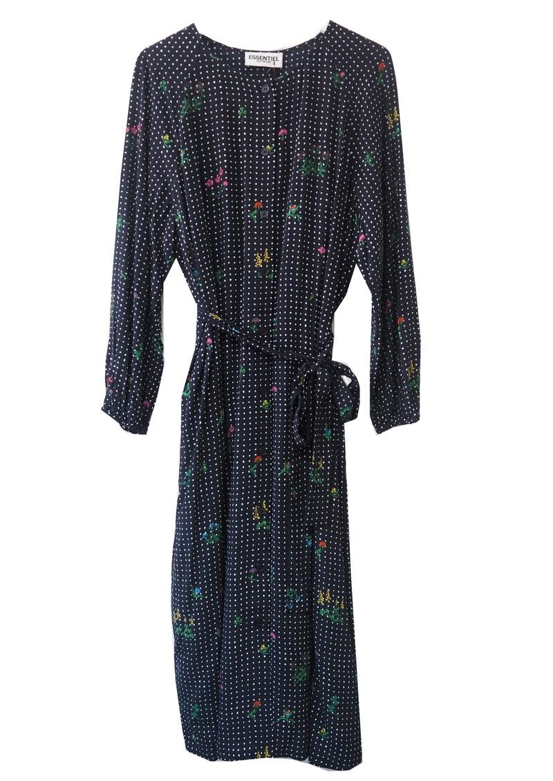 ESSENTIEL ANTWERP Tataclean Floral Dress - Denim Blue main image