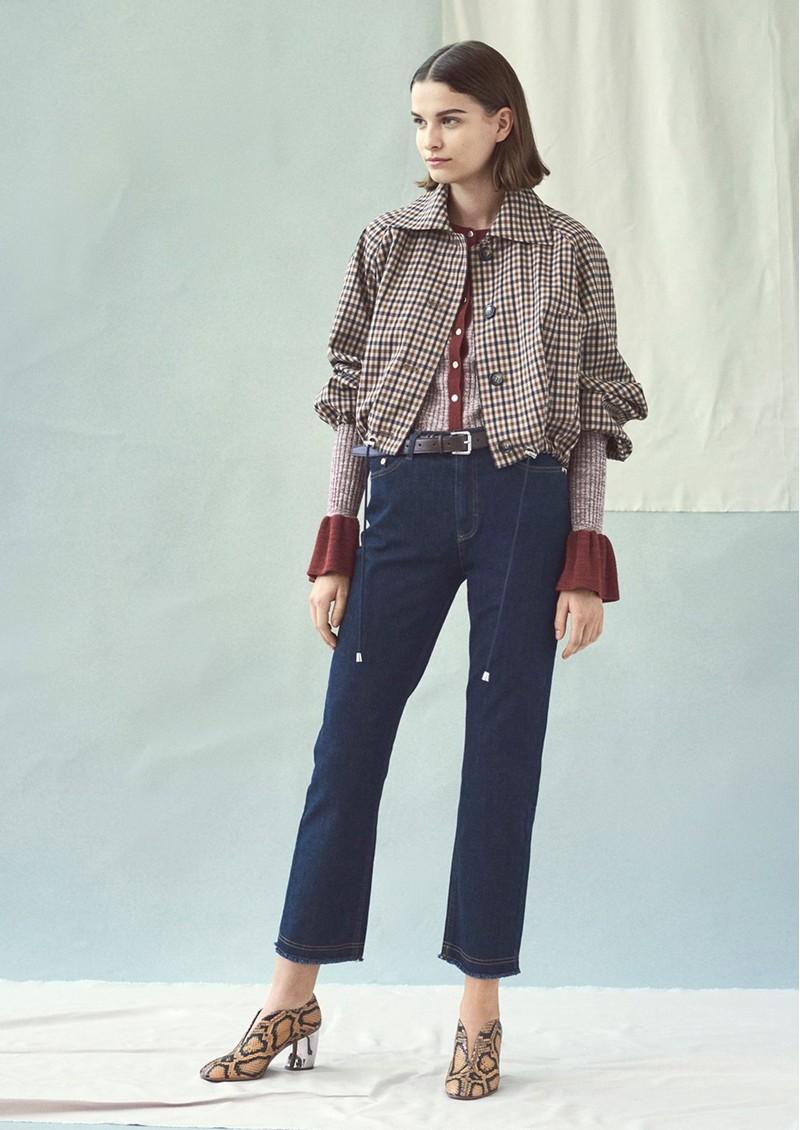 BAUM UND PFERDGARTEN Blair Jacket - Nougat Check main image