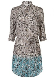 HEIDI KLEIN Mombasa Shirt Dress - Snake Print