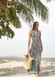 HEIDI KLEIN Mombasa Halterneck Maxi Dress - Snake Print