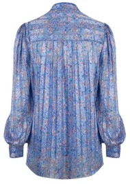 DANTE 6 Nia Flower Blouse - Cornflower