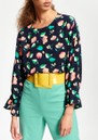 Tiesto Floral Top - Denim Blue additional image