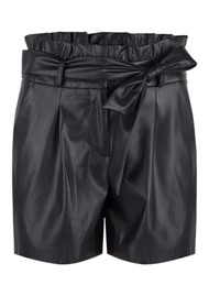 DANTE 6 Nola Faux Leather Shorts - Raven