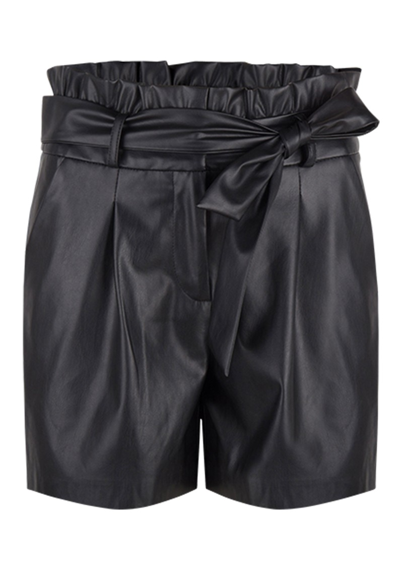 DANTE 6 Nola Faux Leather Shorts - Raven main image