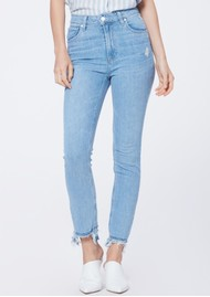 Paige Denim Sarah Slim Straight Leg Jeans - Mako Distressed