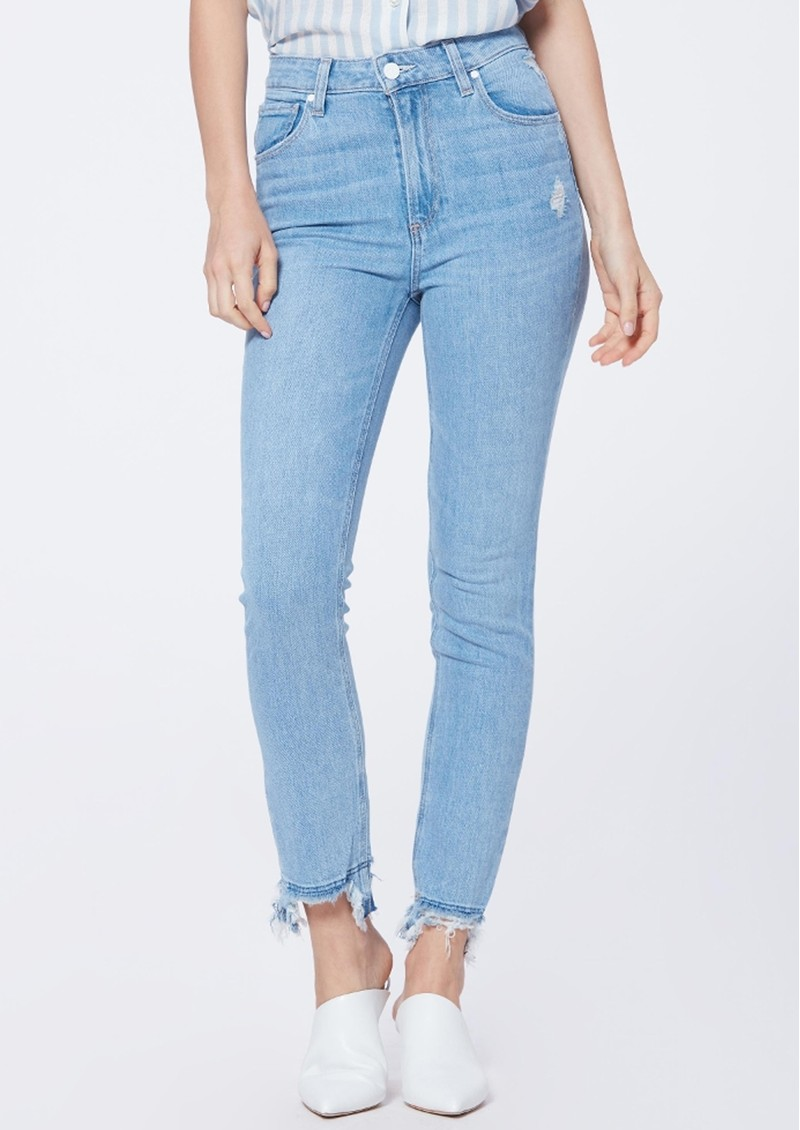 Paige Denim Sarah Slim Straight Leg Jeans - Mako Distressed main image