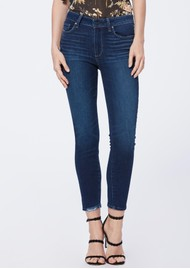 Paige Denim Hoxton Crop Ultra Skinny Jeans - Hibiscus Distressed