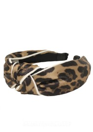 UNIVERSE OF US Large Leopard Headband - Brown