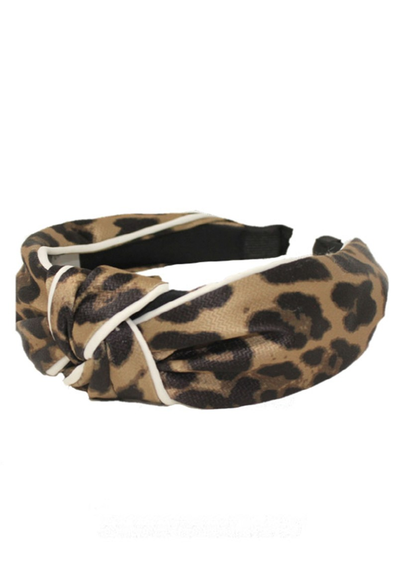 UNIVERSE OF US Large Leopard Headband - Brown  main image