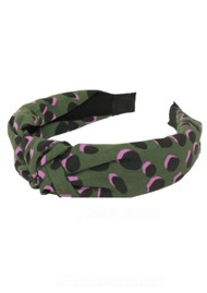 UNIVERSE OF US Slim Leopard Headband - Forest Green